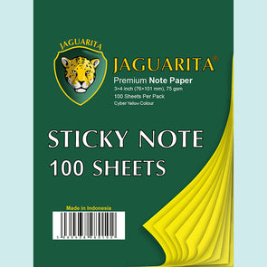Jaguarita Sticky Notes Cyber Yellow 100 Sheets 75gsm