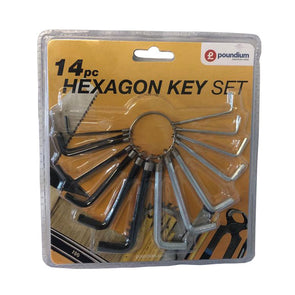 Hexagon Alan Key Set 14 Piece