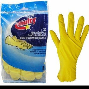 1 pair rubber gloves Medium Size