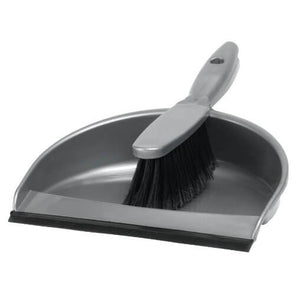Ashby Dust Pan & Brush Set Silver