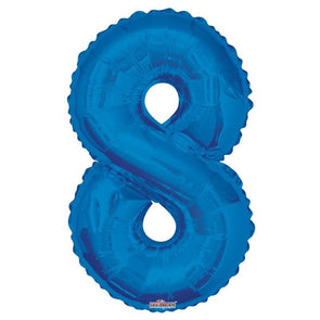 Number 8 Balloon Royal Blue 34""
