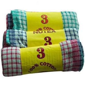 3 Pack Mono Check Towel