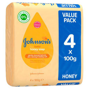 Johnson's Baby Honey Soap Value Pack 4x100g
