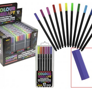12pc Colour Therapy Super Fine Crayons