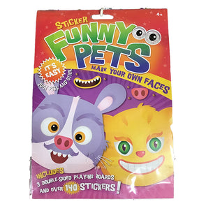 Sticker Funny Pets Make Your Own Faces 140 Pack