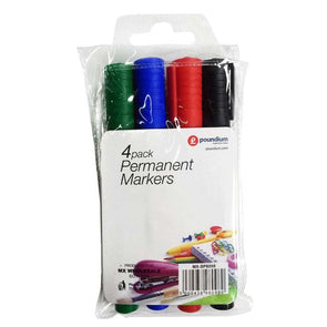 Permanent Markers A Pack of 4