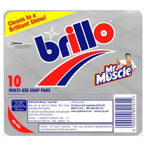 Brillo Mr Muscle Multi-Use Soap Pads 10 Pack