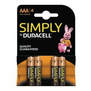 Duracell Simply AAA Battery 4 Pack 2400 - Case of 10