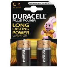 Duracell Plus C Battery 2 Pack - Case of 10