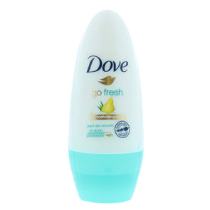 Dove Roll On Go Fresh 48h Anti-perspirant Moisturising Cream Pear & Aloe Vera 50ml - Case of 6