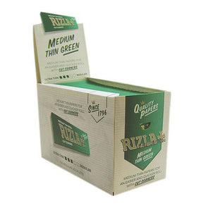 Rizla Medium Thin Green 100's