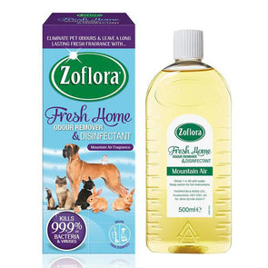 Zoflora Fresh Home Odour Remover & Disinfectant Mountain Air 500ml - Case of 6
