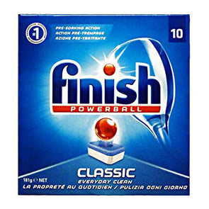 Finish Powerball Classic Dishwasher Cleaning Deep Clean 10 Tablets