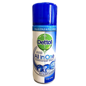 Dettol All in One Disinfectant Spray Crisp Linen 400ml - Case of 6