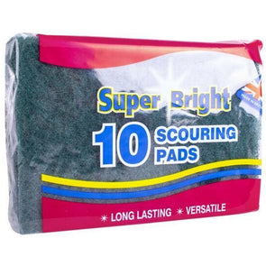 Super Bright Scouring Pads 10 Pack - Case of 10