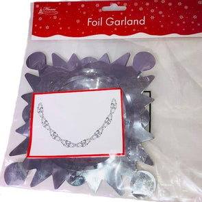 Snowflake Foil Garland Decoration Silver