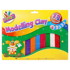 Artbox Modelling Clay Medium 12 Strip Pack - Case of 12