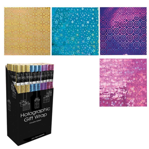 Double Sided Holographic Gift Wrap 2 Metre x 70 cm