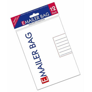 E Mailer White Mail Postal Bags Small High Quality Polybag 160 x 230mm - Case of 12