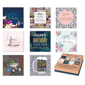 Adult Birthday Cards In Keepsake Box 8 Assorted Designs - Case of 12