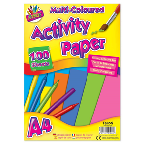100 Sheet Loose A4 Activity Paper Assorted