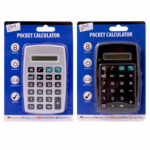 Pocket Calculator - Black & Silver 8 Digit