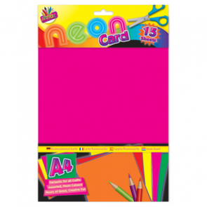 A4 Paper Neon Cards 15 Sheets