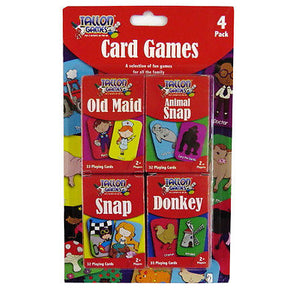 Tallon Games Children's Playing Cards Card Games 4 Pack