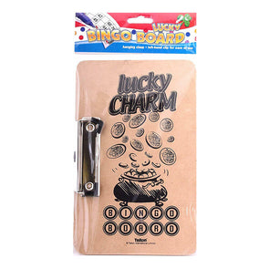 Lucky Charm Bingo Board with Metal Clip