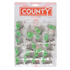 County Safety Pins 12 Pack - Sleeve of 20 Packs