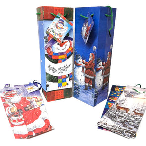 Christmas Gift Bags Bottle - Case of 8