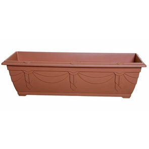 Whitefurze Venetian Planter Window Box Terracotta 60cm