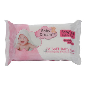 Baby Dreams Soft Babywipes Baby Soft Fragrance Free 72 Pack