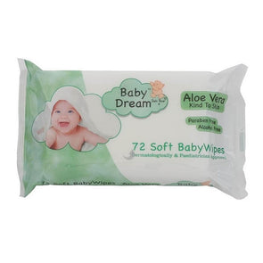 Baby Dreams Soft Babywipes Aloe Vera 72 Pack