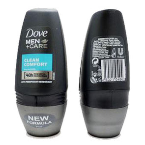 Dove Men+Care Roll On 48h Anti-transpirant Deodorant Clean Comfort 50ml - Case of 6