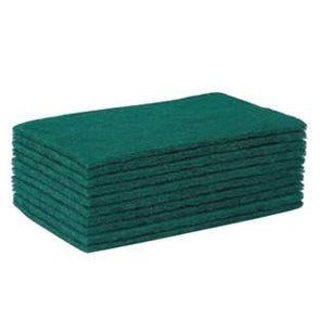 Heavy Duty Green Scouring Pads 5 Pack - Case of 10