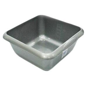 Square Washing Up Bowl Silver