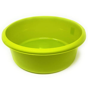 Round Washing Up Bowl Lime Green 8L