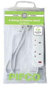 PIFCO Extension Lead 1m 4 Gang 13A