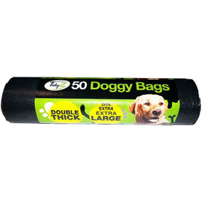 TidyZ Doggy Bags Double Thick Extra Extra Large 50 Pack Roll - Case of 24