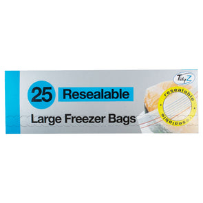 TidyZ Resealable Large Freezer Bags 25 Pack Roll