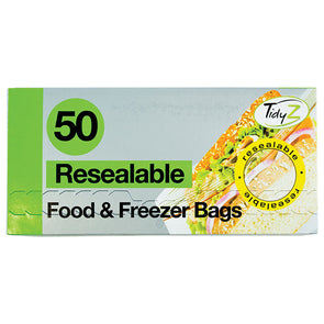 TidyZ Resealable Food & Freezer Bags 50 Pack Roll