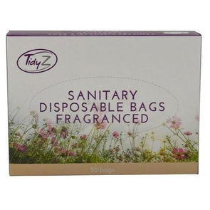 Tidy Z Disposable Fragranced Sanitary Bags 50 Pack