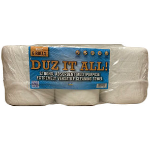 Duz It All! White Centrefeed Paper Tissue 6 Roll Pack