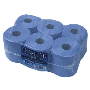 Diamond Blue Value Centrefeed Paper Tissue 6 Roll Pack