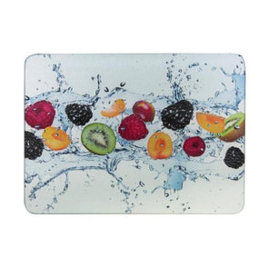 Apollo Glass Chopping Board Fruit Splash Design
