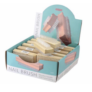 Apollo Nail Brushes Wooden - Case of 24