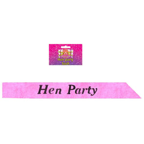 Hot Pink Hen Party Night Sashes 10 Pack