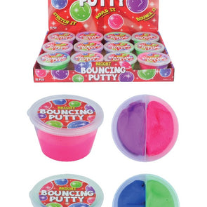 Putty Bouncing 2 Tone Tub 30g 7cm X 4cm 2 Assorted