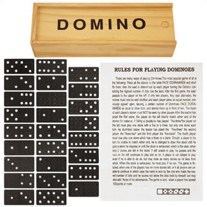 Dominoes Set in Wood Box 28 Piece